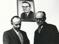 Respublikinės premijos laureatai 1969 m. (iš kairės į dešinę): Enrikas Jaronis, Vytautas Ilgūnas, Kazimieras Baršauskas (nuotraukoje)
